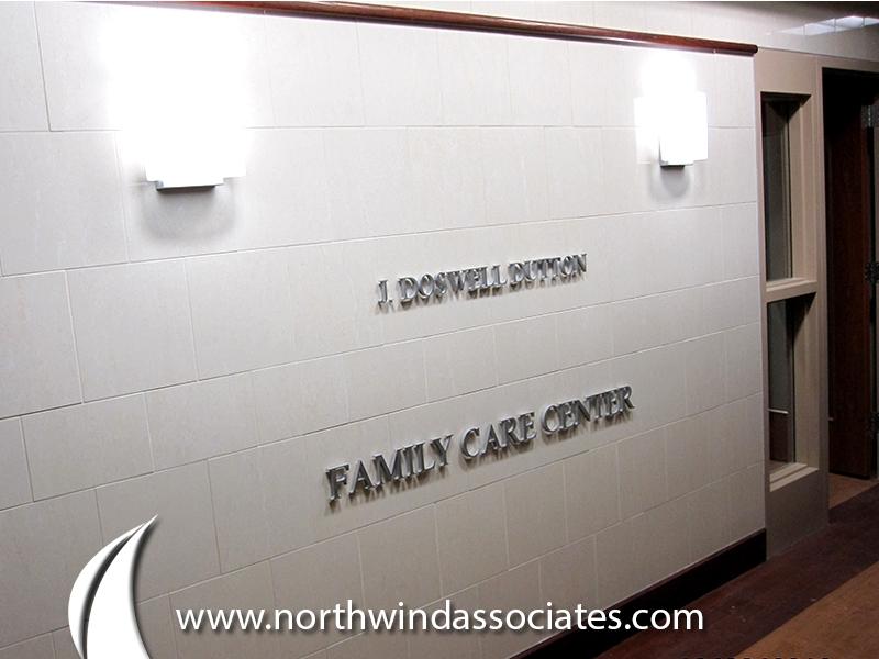 Walter Reid Hospital: Custom Aluminum Letters